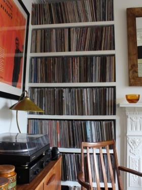 stylish ideas to show off your record collection